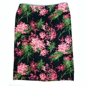 Talbots Floral Print Pencil Skirt